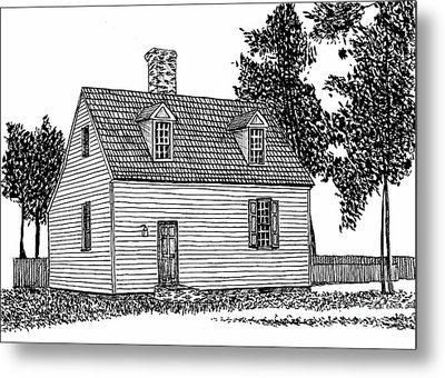 Restored Home, Colonial District, Williamsburg Virginia Historic Area Metal Print by Dawn Boyer