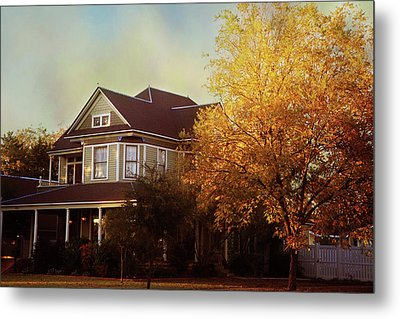 Metal Print featuring the photograph Restored Queen Anne Victorian by Toni Hopper