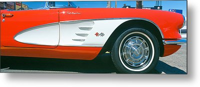 Restored Red 1959 Corvette, Fender Metal Print by Panoramic Images