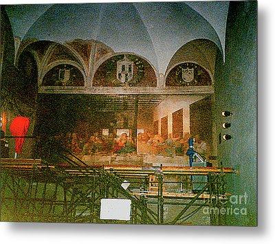 Metal Print featuring the photograph Restoring Divinci's Last Supper - Milan, Utaly by Merton Allen