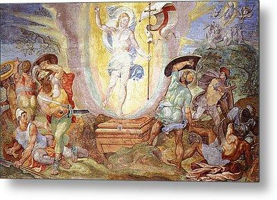 Resurrection Of Christ Metal Print by Hendrick van den Broeck