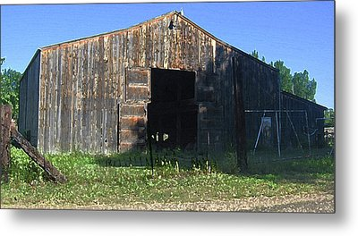 Metal Print featuring the photograph Retired Barn by Tammy Sutherland
