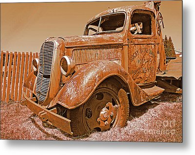 Retired Ford Truck Metal Print by Rich Walter