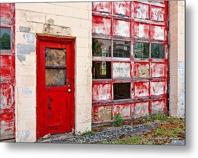 Retired Garage Metal Print by Christopher Holmes