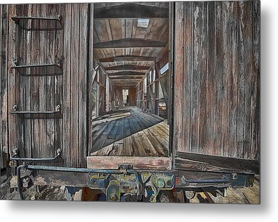 Metal Print featuring the photograph Retired Train Car Jamestown by Steve Siri