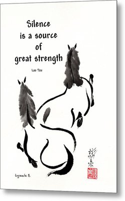 Metal Print featuring the painting Retired With Lao Tzu Quote IIi by Bill Searle