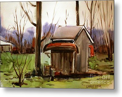 Metal Print featuring the painting Retirement Matted Framed Glassed by Charlie Spear