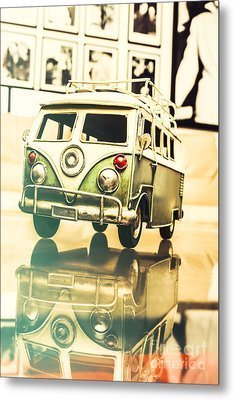Retro 60s Toy Van Metal Print by Jorgo Photography - Wall Art Gallery