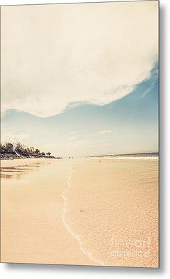 Retro Beach Landscape Taken Bribie Island  Metal Print by Jorgo Photography - Wall Art Gallery