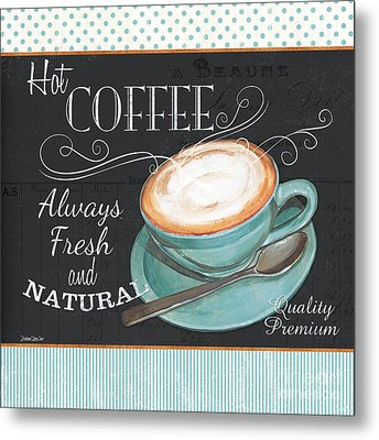 Retro Coffee 1 Metal Print by Debbie DeWitt