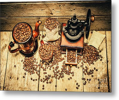Retro Coffee Bean Mill Metal Print by Jorgo Photography - Wall Art Gallery