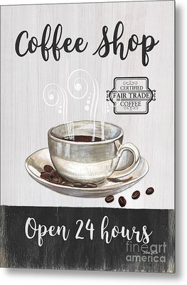 Metal Print featuring the painting Retro Coffee Shop 1 by Debbie DeWitt