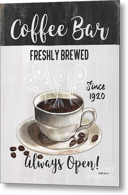Metal Print featuring the painting Retro Coffee Shop 2 by Debbie DeWitt