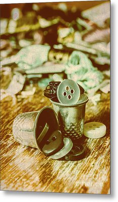 Retro Craft Buckets Metal Print by Jorgo Photography - Wall Art Gallery