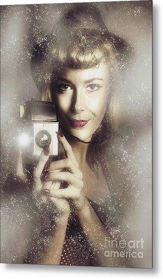 Retro Hollywood Fashion Photographer Metal Print by Jorgo Photography - Wall Art Gallery