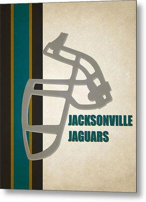 Retro Jaguars Art Metal Print