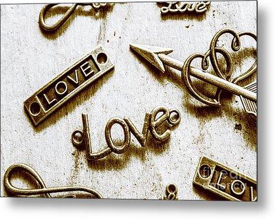 Retro Love Heart Jewels  Metal Print by Jorgo Photography - Wall Art Gallery