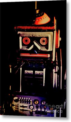 Retro Mechanical Robotics Metal Print