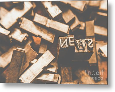 Retro News Print  Metal Print by Jorgo Photography - Wall Art Gallery