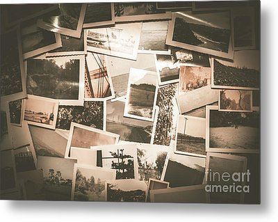 Retro Photo Album Background Metal Print