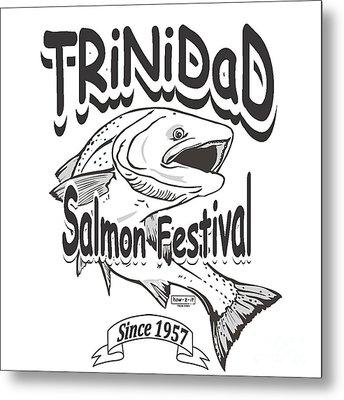 Retro Trinidad Bay Salmon Festival 1957 Metal Print