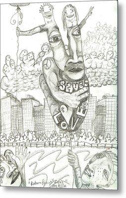 Return Peace Metal Print by Robert Wolverton Jr