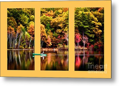 Return To Lake Transition  Metal Print by Garland Johnson