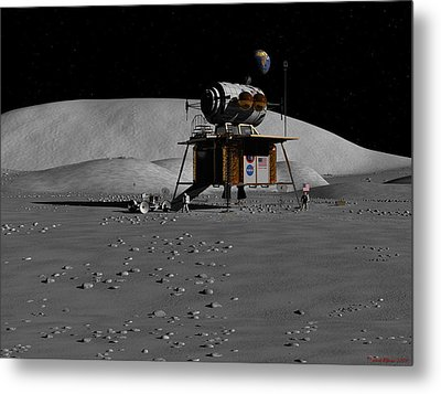Metal Print featuring the digital art Return To The Moon by David Robinson