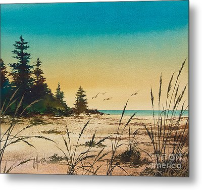 Return To The Shore Metal Print by James Williamson