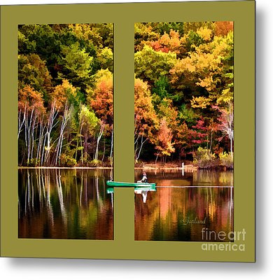 Return To Lake Transition Two Thirds Metal Print by Garland Johnson