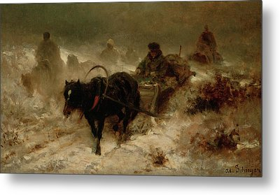 Returning Home Metal Print by Adolf Schreyer