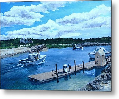 Returning To Sesuit Harbor Metal Print by Jack Skinner