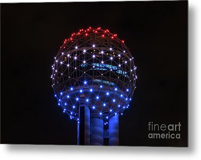 Reunion Tower Ball Metal Print