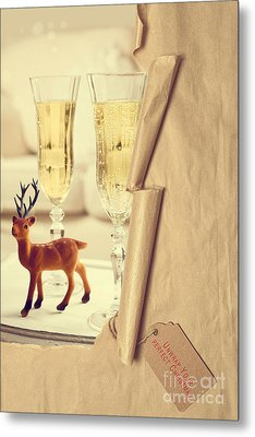 Revealing Christmas Champagne Metal Print