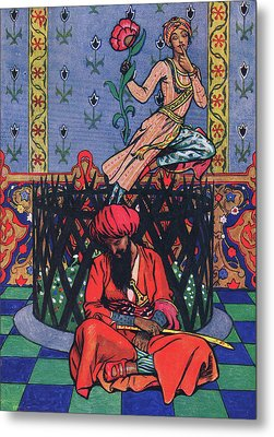 Reverie Of Ormuz The Persian Metal Print by John Byam Liston Shaw