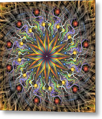 Reverse Cosmosis Metal Print by Becky Titus