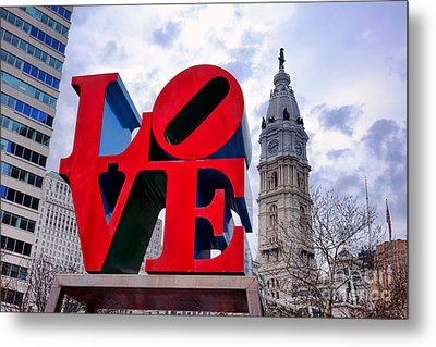 Reverse Love Metal Print by Olivier Le Queinec