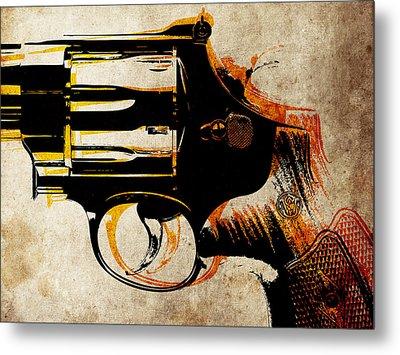 Revolver Trigger Metal Print by Michael Tompsett