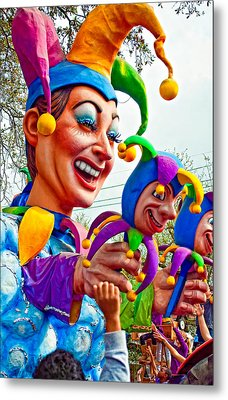 Rex Mardi Gras Parade Xi Metal Print by Steve Harrington