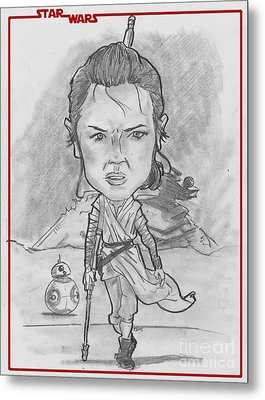 Rey The Force Awakens Metal Print by Chris DelVecchio