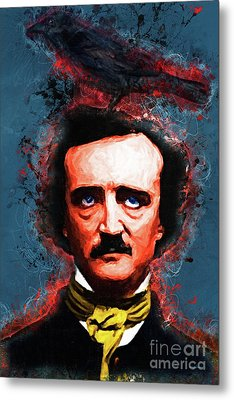 Reynolds I Became Insane With Long Intervals Of Horrible Sanity Edgar Allan Poe Metal Print by Wingsdomain Art and Photography
