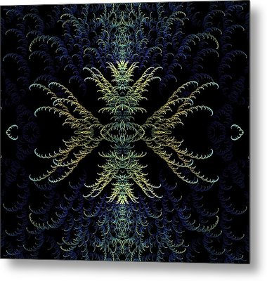 Rhapsody In Blue And Gold Metal Print