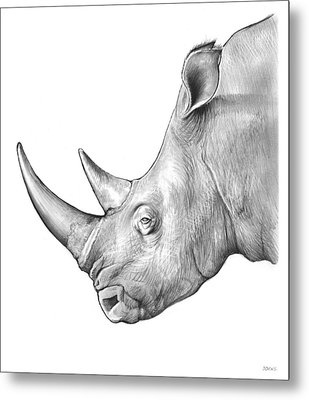 Rhino Metal Print by Greg Joens