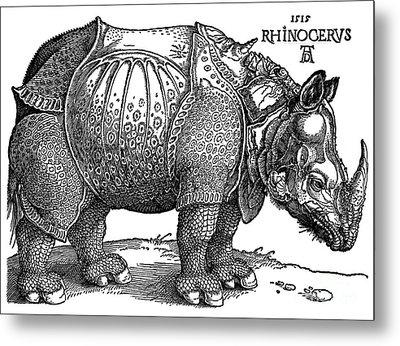 Rhinoceros 1515 Metal Print by Padre Art