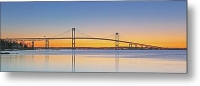 Rhode Island Newport Bridge Metal Print by Juergen Roth