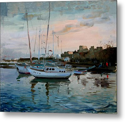 Rhodes Mandraki Harbour Metal Print by Ylli Haruni