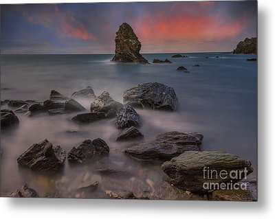 Rhoscolyn Rocks Metal Print by Ian Mitchell