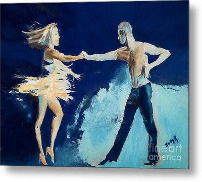 Metal Print featuring the painting Rhythm Is Going To Get You by Judy Kay
