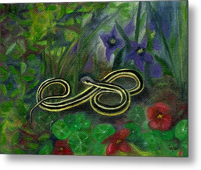 Ribbon Snake Metal Print by FT McKinstry