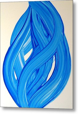 Ribbons Of Love-blue Metal Print